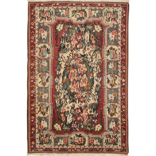 "Pasargad N Y Persian Bakhtiari Semi-Antique Hand Knotted Area Rug - 5'4"" X 8'"