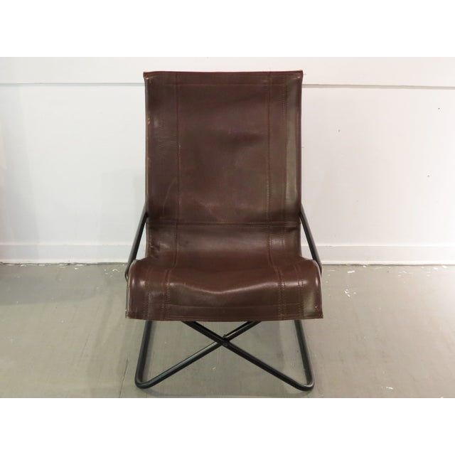 Vintage MCM Uchida Leather Sling Chair - Image 3 of 11