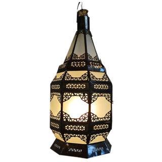 Boho White Hanging Lantern