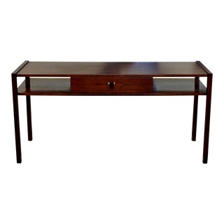 Mid Century Modern Edward Wormley for Dunbar Sofa Console Table Walnut Rosewood
