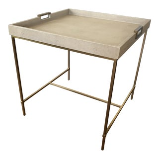 Faux Shagreen Tray-Top Table