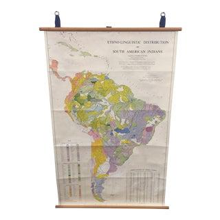Vintage South America Map