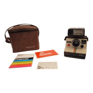 Vintage Polaroid Sears OneStep Land Camera, Case & Brochures