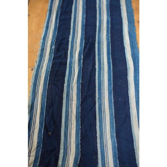 "Image of Indigo Blue Striped Throw - 1'10"" x 4'3"""