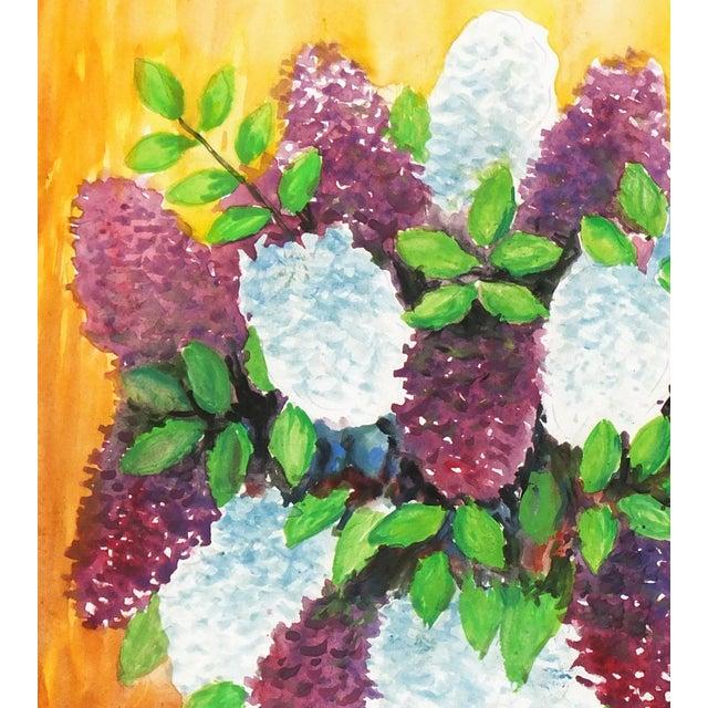 Albert Liedl Vintage 1978 Flowers Painting - Image 3 of 4