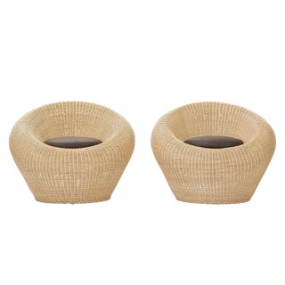 Pair of Isamu Kenmochi Rattan Chairs