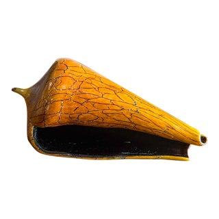 Hand Blown Art Glass Conch Shell, Silkwood Glass