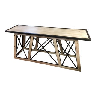Contemporary Metal & Wood Console