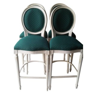 French Louis XVI Style Bar Stools - 4