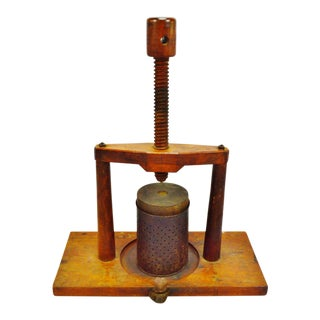Handmade Wooden Primitive Fruit Press