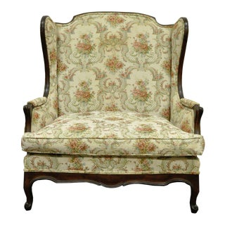 Vintage French Country Louis XV Wingback Chair