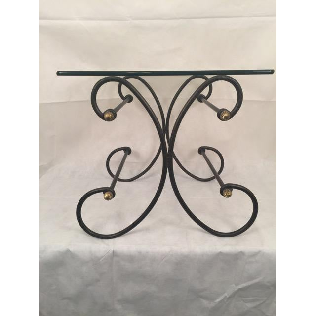 Iron and Glass Side Table - Image 6 of 6