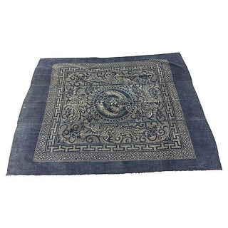 Vintage Chinese Minority Indigo Batik Textile