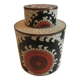 Suzani Cloisonne Jar With Lid, by Fabienne Jouvin