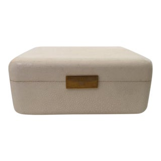 Cream Shagreen Jewelry Box