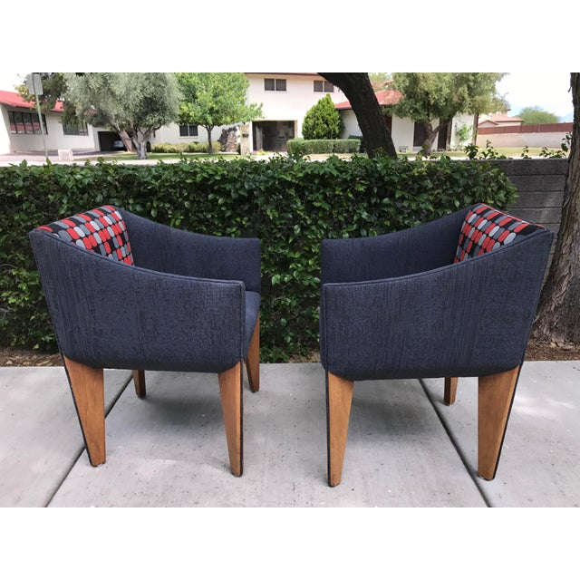 Mid-Century Modern Fin Leg Lounge Chairs - A Pair - Image 3 of 11