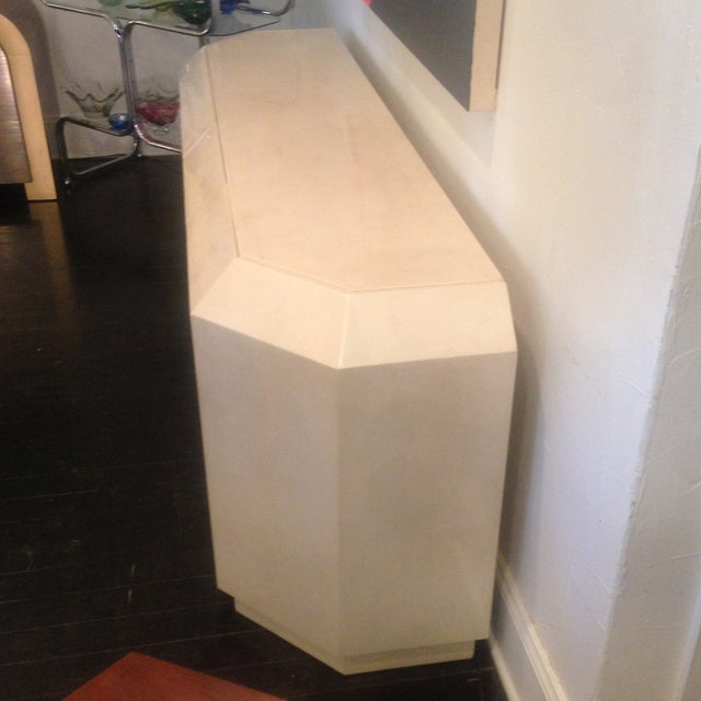 Image of 1980's Ello Style Faux Marble Credenza
