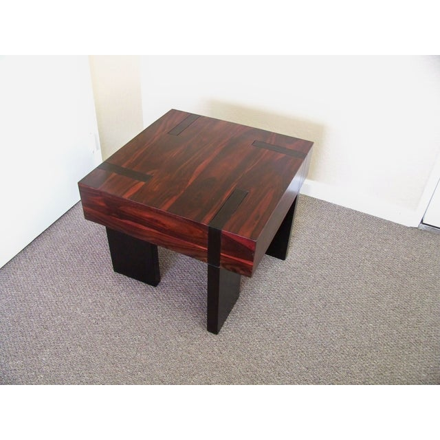 Image of Rosewood & Mahogany Side Table