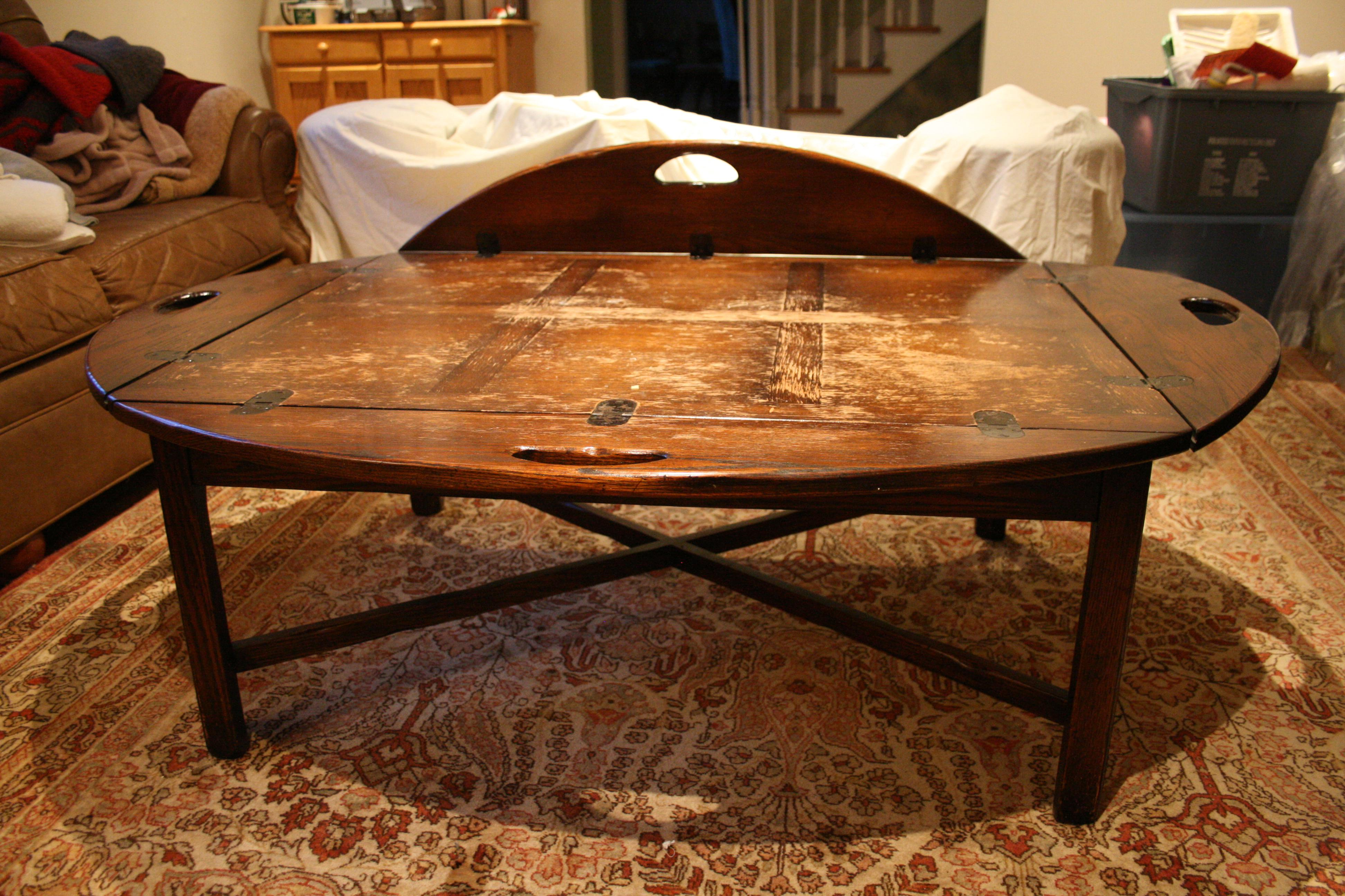 American Antique Style Butleru0027s Tray Coffee Table   Image 4 ...