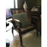 Image of Mid-Century Teak Cane Chair