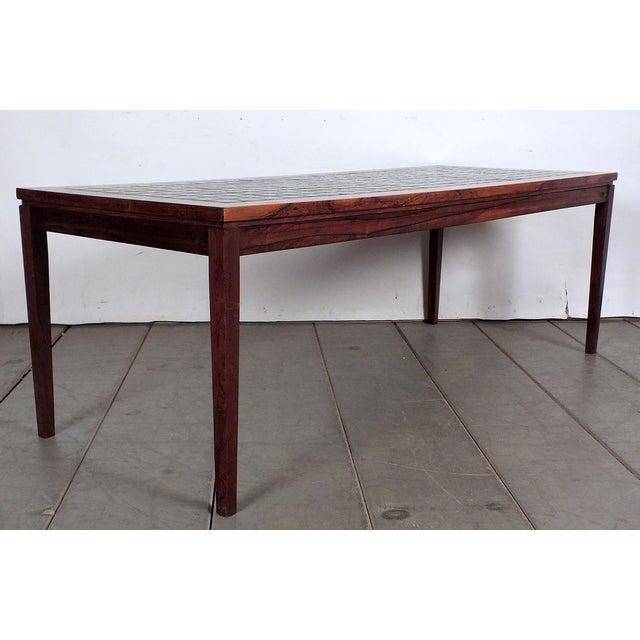 Mid-Century Ceramic Tile-Top Coffee Table