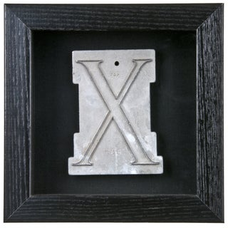 Framed Mid Century Spacerite Steel Letter X