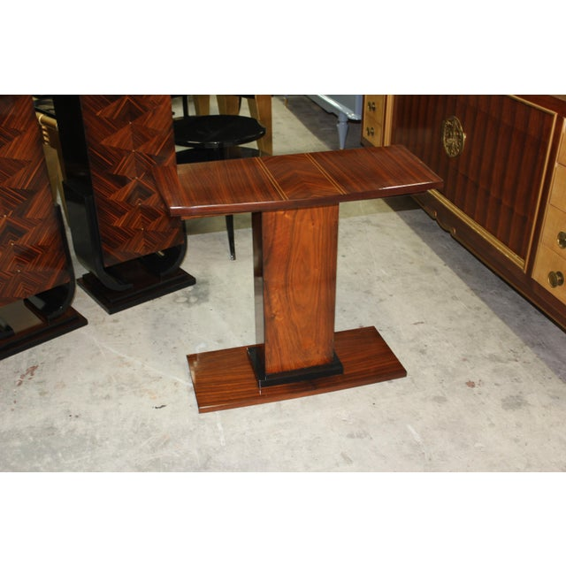 French Art Deco Palisander Console Table - Image 10 of 10