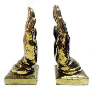 Vintage Bronze Hands Bookends