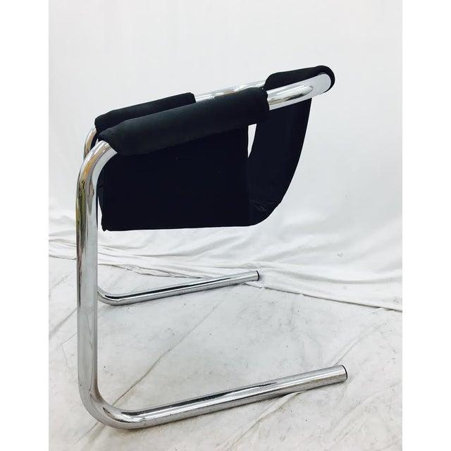 Vintage Italian Mid Century Modern Chrome Tubular Sling
