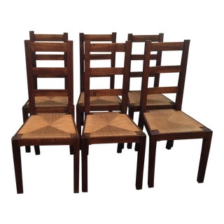 French Ladder Back Chairs - Set of 6