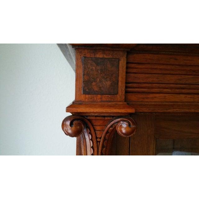 Antique Display Cabinet with Glass Door - Image 8 of 9 - Antique Display Cabinet With Glass Door Chairish