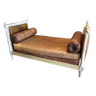 Leather Upholstered French Daybed