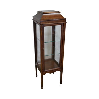 Mahogany Hepplewhite Vitrine Display Cabinet