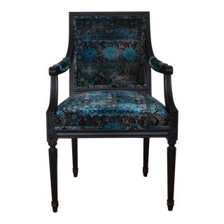 Neoclassical French Louis XVI Style Arm Chair