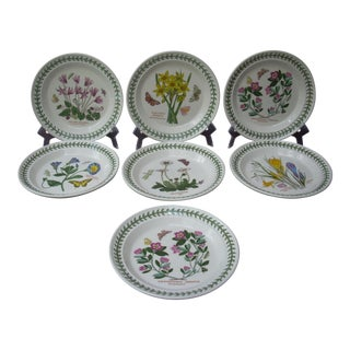 Portmeirion Floral Dessert Plates - Set of 7