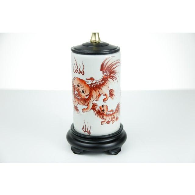 Chinese Porcelain Dragon Vase Lamp - Image 2 of 4