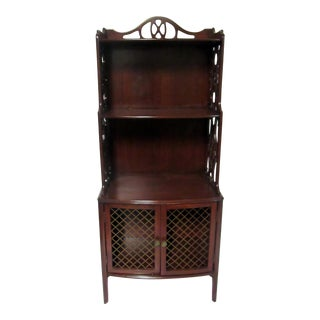 Vintage Mahogany Bookshelf Curio Cabinet