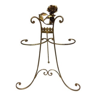 Hollywood Regency Floral Hand Towel Holder