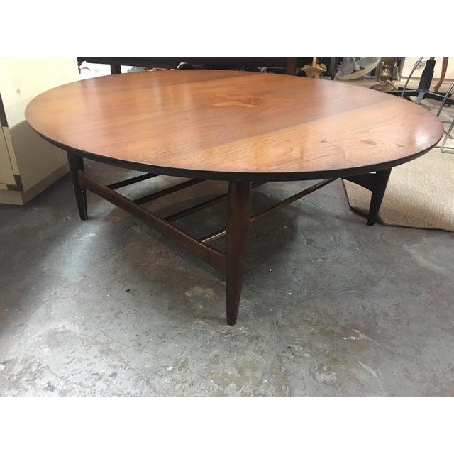 Mid-Century Danish Round Coffee Table - Image 2 of 8