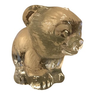 Glass Bear Paper Weight