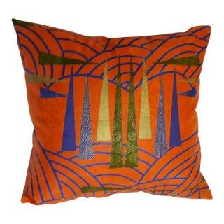 Orange Dutch Wax Printed Pillow