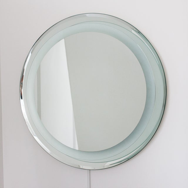 Vanity Light Wall Mirror : Fontana Arte Style Light Up Vanity Wall Mirror Chairish