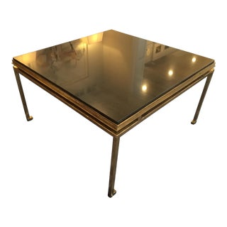 Black Granite Top Chinoiserie Coffee Table