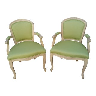 Traditional Louis-Style Chairs - A Pair
