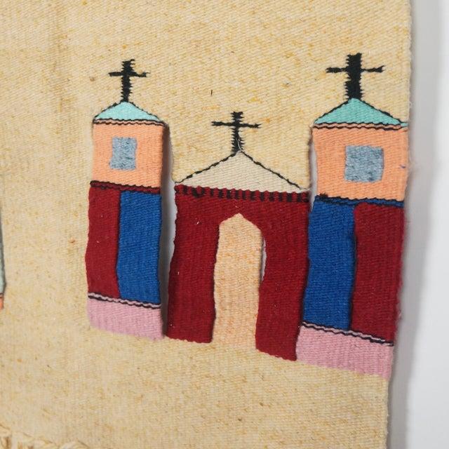 Vintage Fiber Art Southwestern Woven Hanging - Image 5 of 6