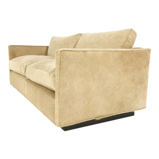 Forsyth One of a Kind Milo Baughman for Thayer Coggin Loveseat Sofa in Palomino Brazilian Cowhide