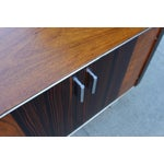 Image of Mid-Century Wooden Nightstand on Lucite Base