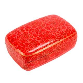 Hand Painted Fuchsia Kashmiri Accent Box