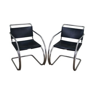 Knoll Ludwig Mies Van Der Rohe Chairs - Pair