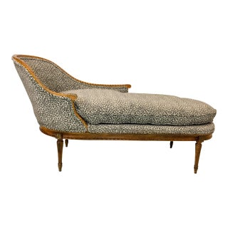 French Style Leopard Chaise